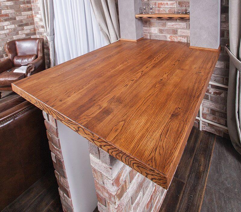 Столешница из деревянных спилов кухни цвет капучино столешница серый иней