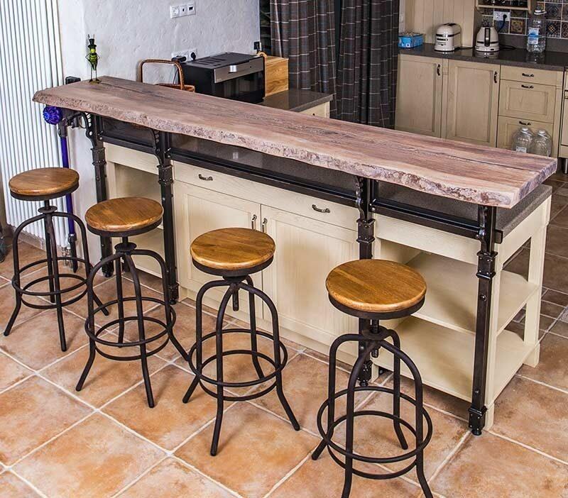 как сделать барные деревянные столы фото видео