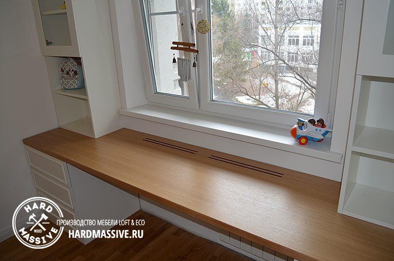 Как своими руками сделать столешницу возле окна 56