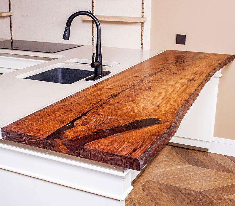 Столешница из спилов дерева технология кухонный стол из камня Симбухово