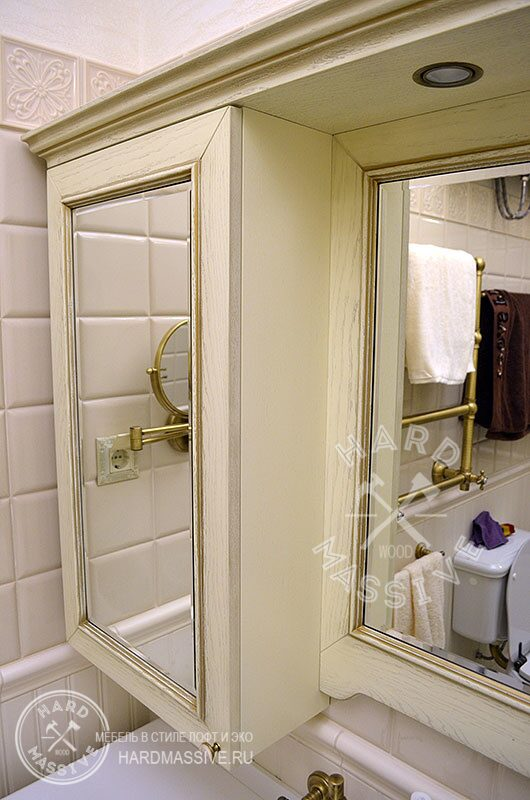 шкаф и тумба по индивидуальному проекту в ванную комнату