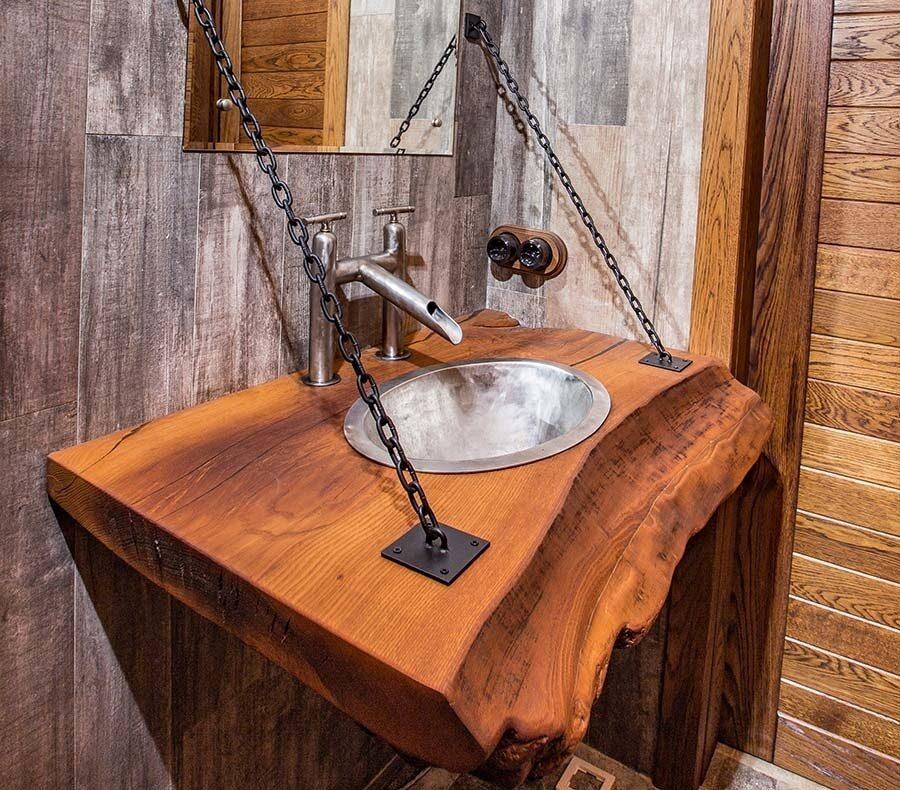 Мебель в ванную своими руками из дерева 343