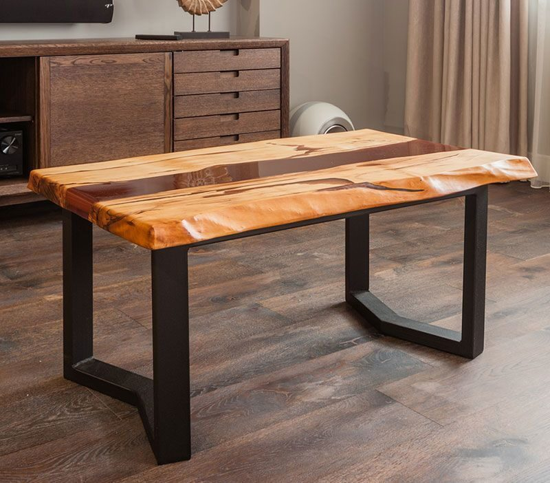 кофейный столик мичуринский небольшой столик река из дерева и металла