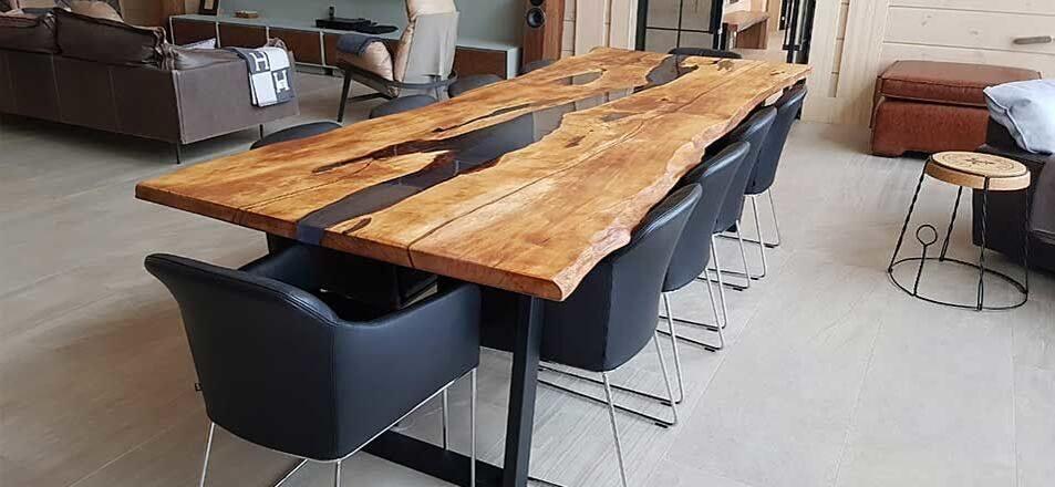 Столы из слэбов дерева на заказ